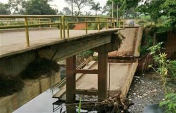 Se cayó otro puente, esta vez en Cali
