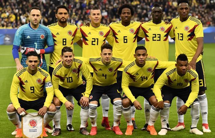 Selección Colombia ante Francia. Foto: AFP
