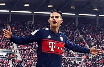 James Rodríguez muy cerca de ser campeón con el Bayern