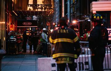 Cinco heridos trasincendio en la Torre Trump