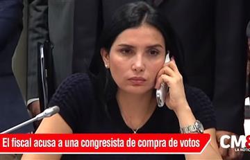 La congresista Aida Merlano se entregó ante la policía de Bogotá