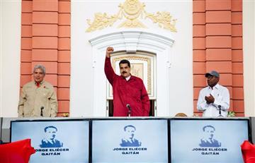 """Maduro afirma que Santos se """"burla"""" de los acuerdos de paz con las FARC"""