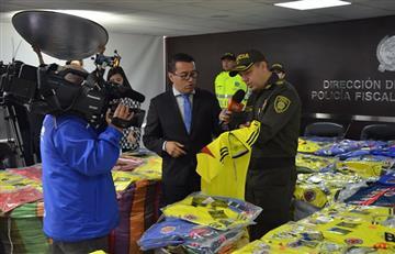 Camisetas 'chiviadas' de la Selección Colombia ponen en alerta a las autoridades