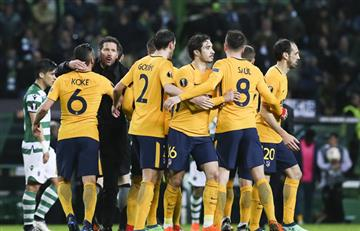 Atlético de Madrid superó al Sporting y se clasificó a semis de la Europa League