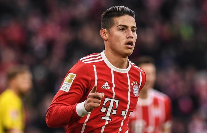 James Rodríguez y el Bayern Múnich estrenan el título de la Bundesliga con goleada