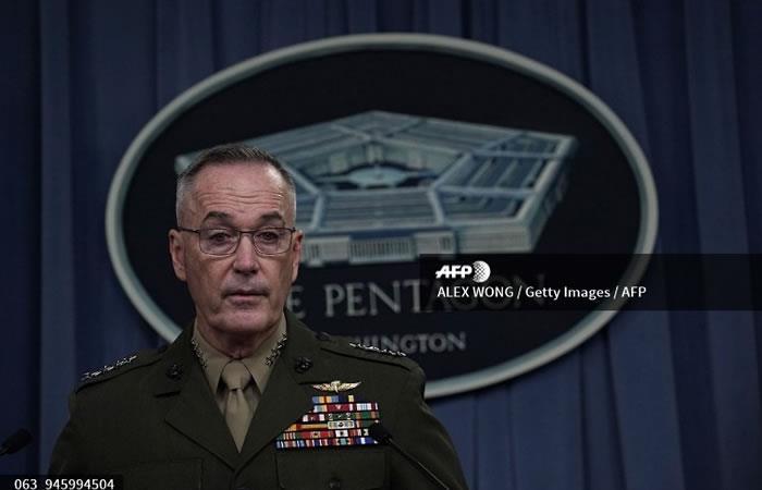 El jefe del Estado Mayor conjunto general Joseph Dunford. Foto. AFP.