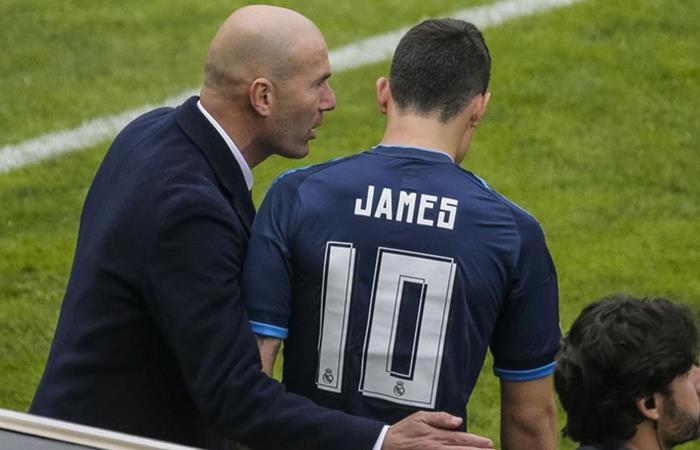 Zidane rompe el silencio y habla de James Rodríguez en la Champions
