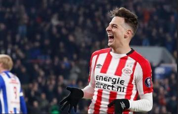Santiago Arias campeón con el PSV frente al Ajax