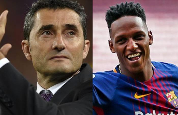 Ernesto Valverde rompe el silencio y revela por qué Yerry Mina no juega