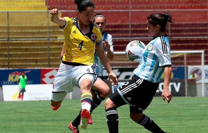 La selección Colombia femenina cayó ante Argentina