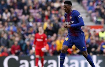 Yerry Mina de nuevo titular con el Barcelona