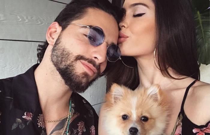 Maluma demostró su lado más romántico con su novia Natalia Barulích