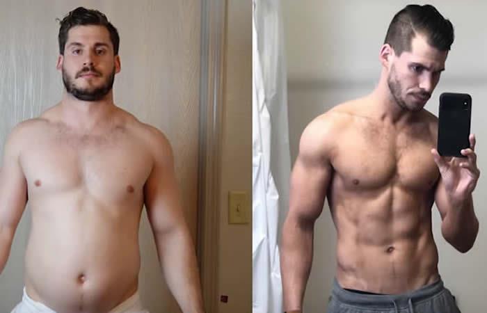 Hombre pierde 19 kilos en solo tres meses