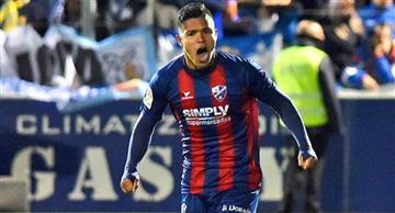 """Juan Camilo """"el cucho"""" Hernández anotó doblete en la victoria del Huesca"""