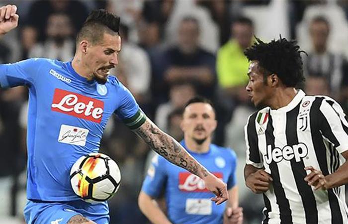Juventus de Cuadrado perdió en casa en el último minuto ante el Napoli