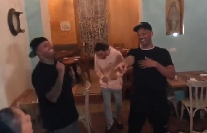 Will Smith y Nicky Jam protagonizan tremendo baile en Cartagena