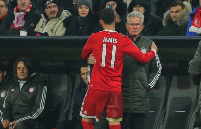 Jupp Heynckes elogia a James Rodríguez previo al partido de Champions League