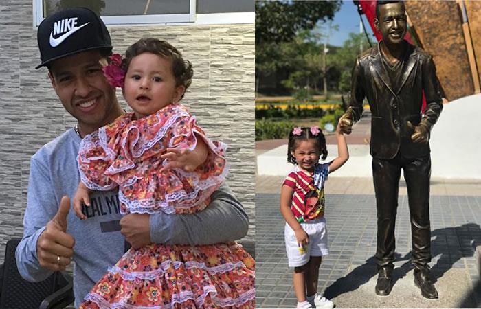 Martín Elías y la emotiva reacción de su hija al ver su monumento