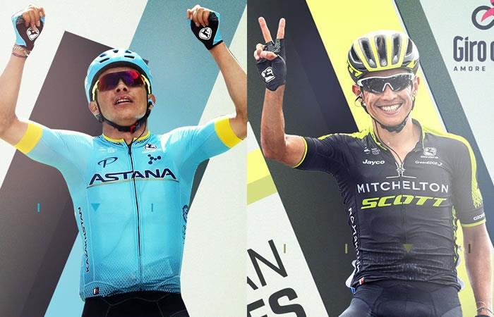Giro de Italia: Miguel Ángel López y Esteban Chaves a liderar sus respectivos equipos