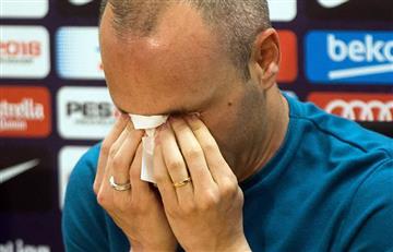 Andrés Iniesta entre lágrimas se despide del FC Barcelona