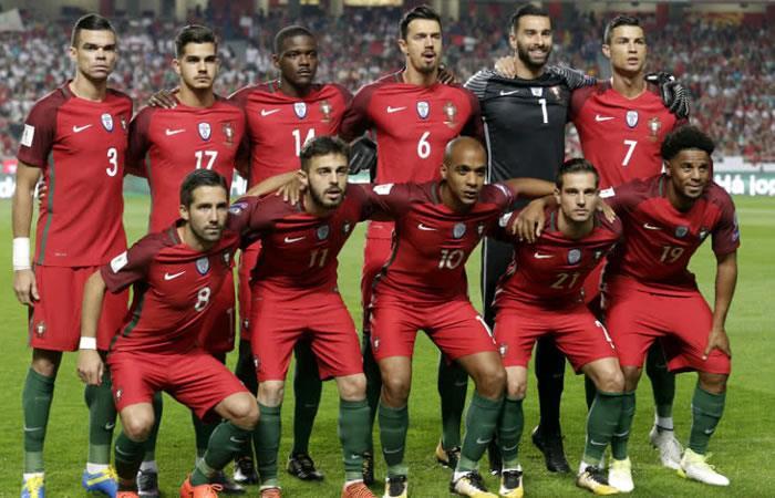 Selección de Portugal. Foto: AFP