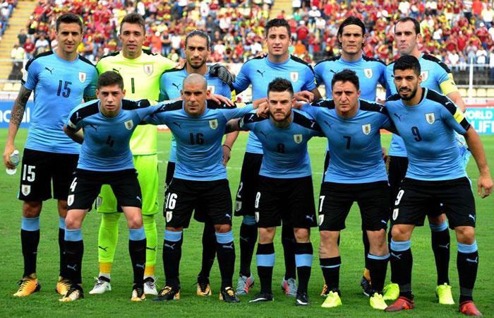Selección de Uruguay. Foto: AFP