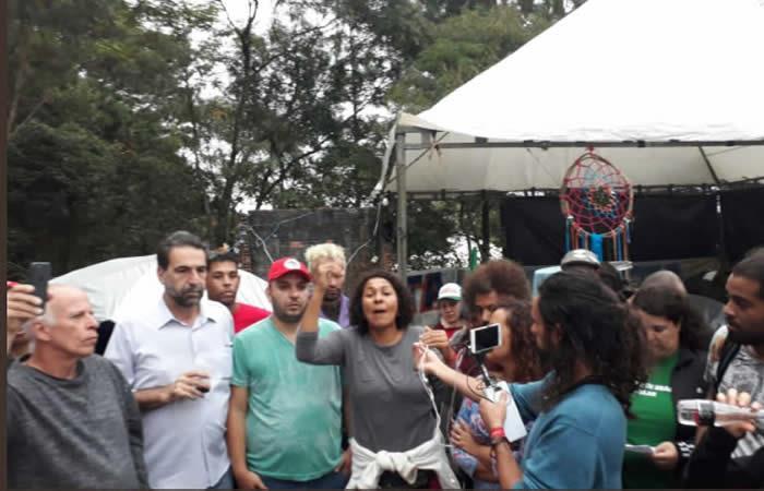 Ataque al campamento pro Lula en Curitiba deja dos heridos