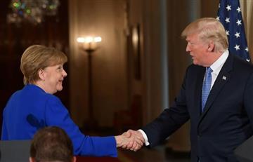 Comercio, OTAN e Irán, son los principales temas entre Trump y Merkel