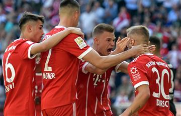 El Bayern de James goleó al Eintracht y se motiva antes del juego con el Madrid