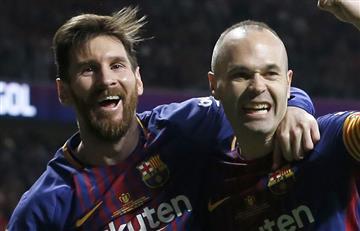 Messi se lamenta con Iniesta por esto al ganar el título