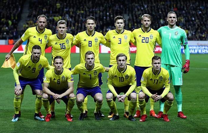 Selección de Suecia. Foto AFP