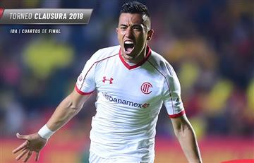 Fernando Uribe salvó al Toluca con un golazo