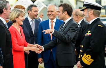 """Macron se burla de su """"deliciosa"""" metida de pata en Australia"""
