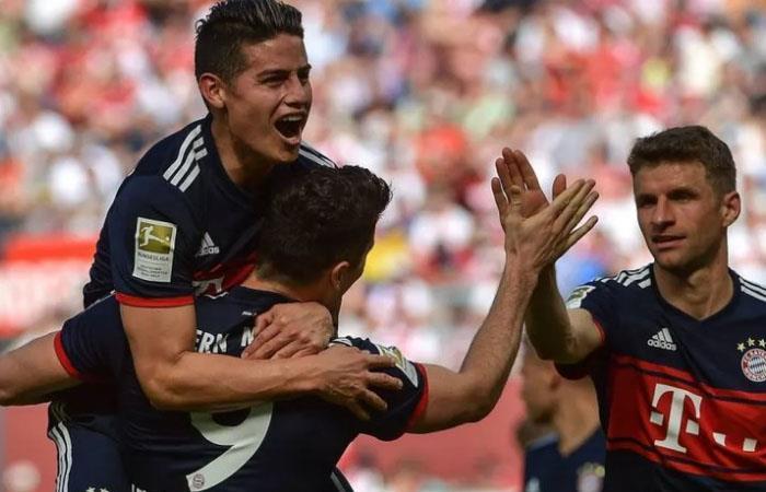 Con gol de James Rodríguez el Bayern Múnich le ganó al FC Colina