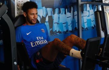 Neymar regresó y así fue su día de entrenamiento en el campo del PSG
