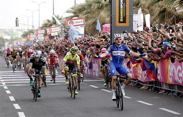Giro de Italia: Elia Viviani gana la tercera etapa