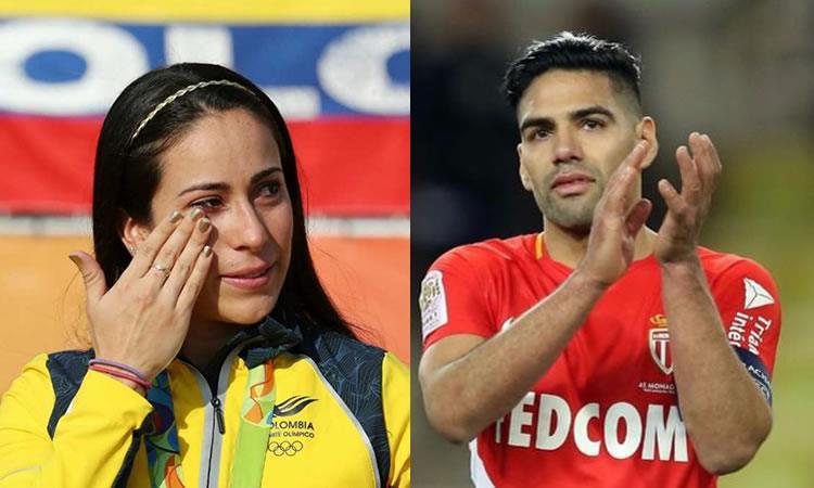 Falcao alienta con un emotivo mensaje a Mariana Pajón en su difícil momento