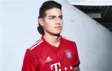 James Rodríguez presenta la nueva camiseta del Bayern Múnich