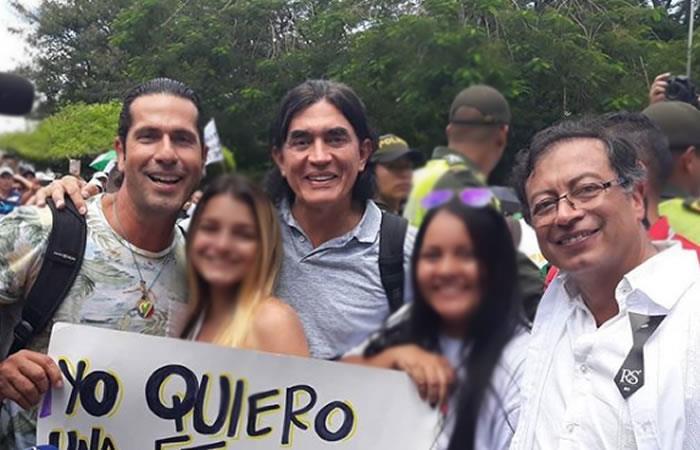 Gustavo Bolívar, Gregorio Pernia y Gustavo Petro juntos en campaña