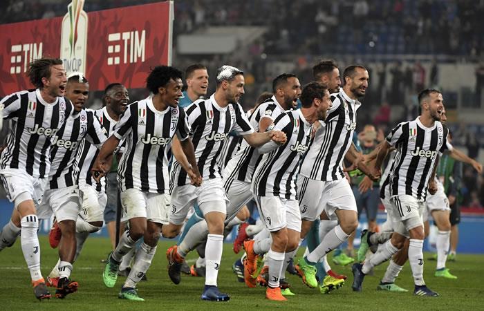 Juventus campeón de la Coppa Italia. Foto: AFP