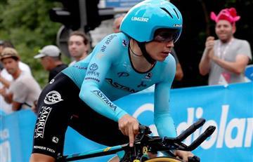 'Superman' López tuvo un día para olvidar, sufrió una caída y cedió terreno en el Giro