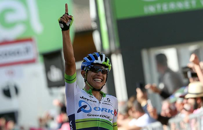 Esteban Chaves enorgullece a Colombia ganando la etapa 6