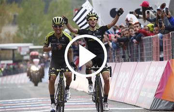 Giro de Italia: Revive el emotivo momento en el que Esteban Chaves gana la etapa 6