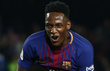 Yerry Mina enamoró a la hinchada del Barcelona