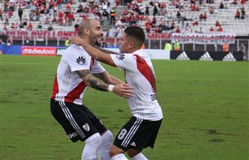 Asistencia de Juan Fernando Quintero en la victoria de River Plate ante Estudiantes