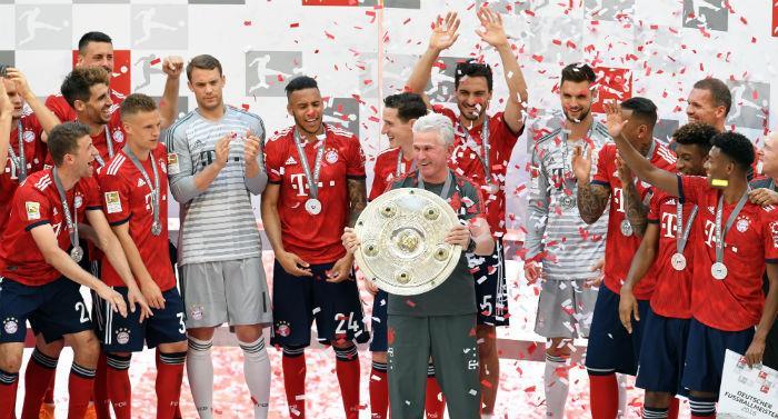 Bayern campeón  de la Bundesliga2017-2018.