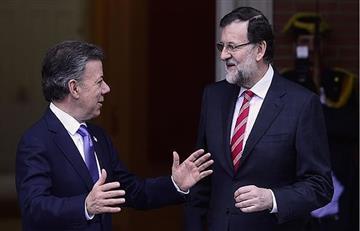 """Rajoy y Santos piden solución """"plenamente democrática"""" para Venezuela"""