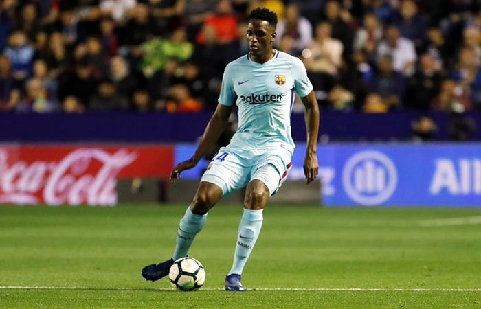 Yerry Mina fue titular en la primera derrota del Barcelona