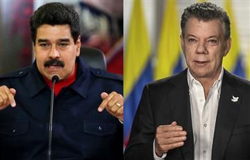 """Maduro llama """"imbécil"""" a Santos por desconocer las presidenciales venezolanas"""