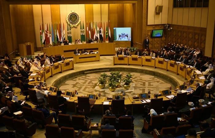 Reunión de los ministros de Exteriores de la Liga Árabe en El Cairo el 17 de mayo de 2018. Foto: AFP